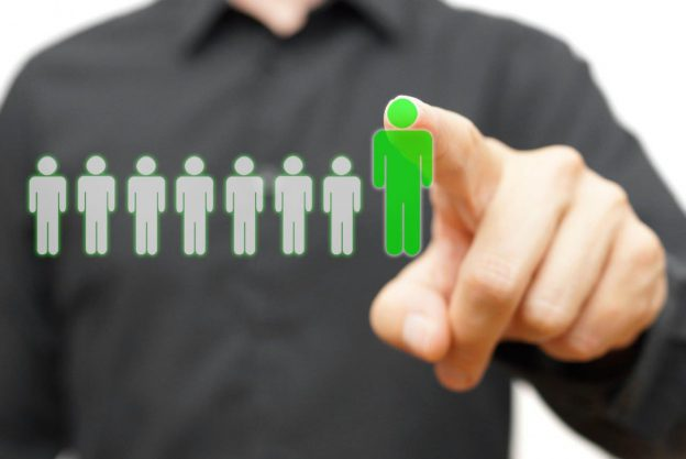 Man pointing at people graphic